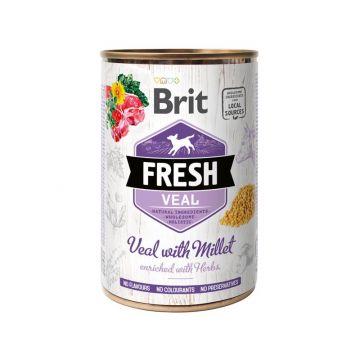 Brit Dog Fresh Veal with Millet/Kalb mit Hirse 400g (Menge: 6 je Bestelleinheit)